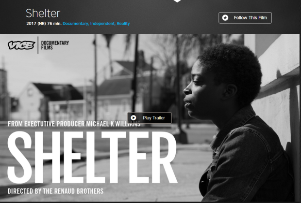 Shelter - 2017 (NR) 76 min. Documentary, Independent, Reality Follow This Film
